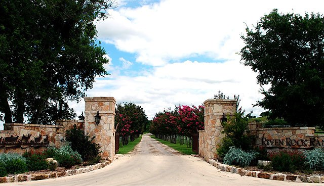 Riven Rock Ranch - front gate