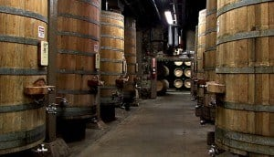 Simi Winery - wine barrels