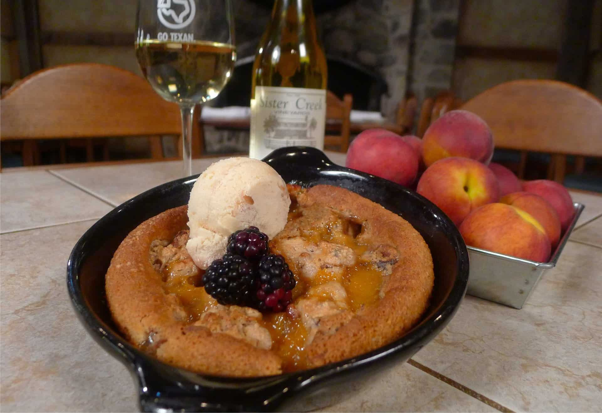Cabernet Grill Pecan Peach Cobbler