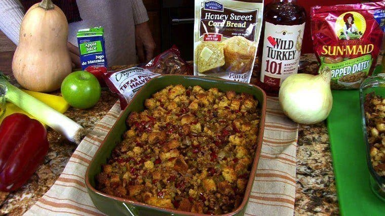 Cornbread Bourbon Stuffing large - Scrumptious Side Dishes For Thanksgiving!